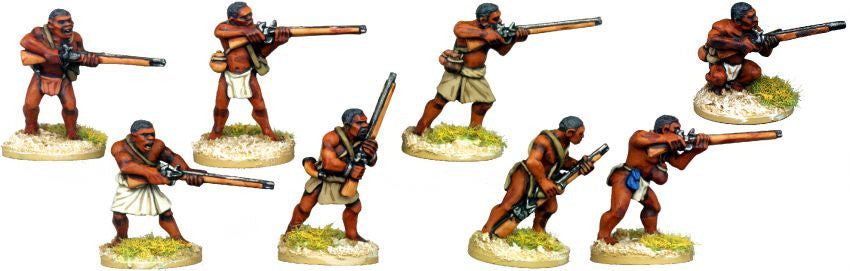 DA132 - Skirmishing Tribal Musketmen