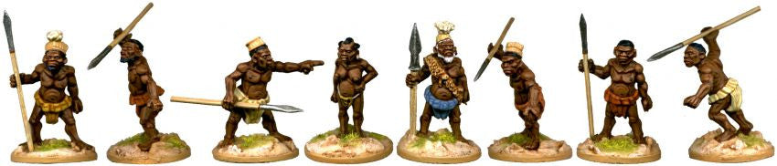DA136 - Pygmy Chief Mbuti and his Pygmy Bodyguard