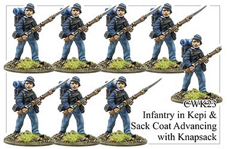 CWK023 Infantry in Kepi and Sack Coat Advancing