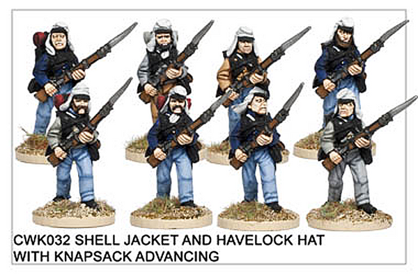 CWK032 Infantry in Havelock and Shell Jacket Advancing