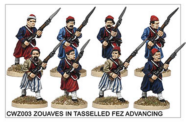 CWZ003 Zouaves in Tasseled Fez Advancing