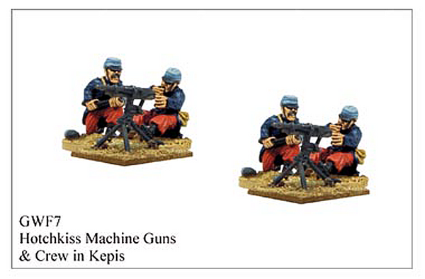 GWF007 - Hotchkiss Machine Gun Crew In Kepis