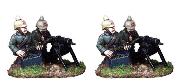 GWG004 - Germans Machine Guns And Crew In Pickelhaube