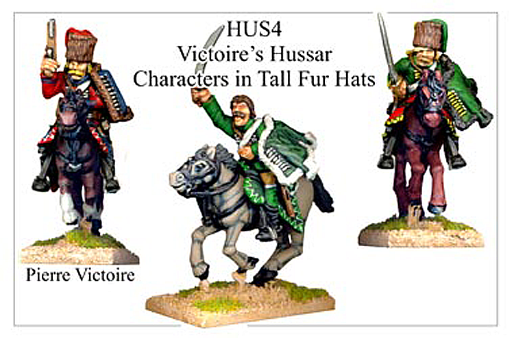 HUS004 - Hussars In Tall Fur Hat Characters