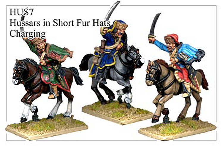 HUS007 - Hussars In Short Fur Hat Charging