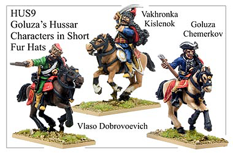 HUS009 - Hussars In Short Fur Hat Characters