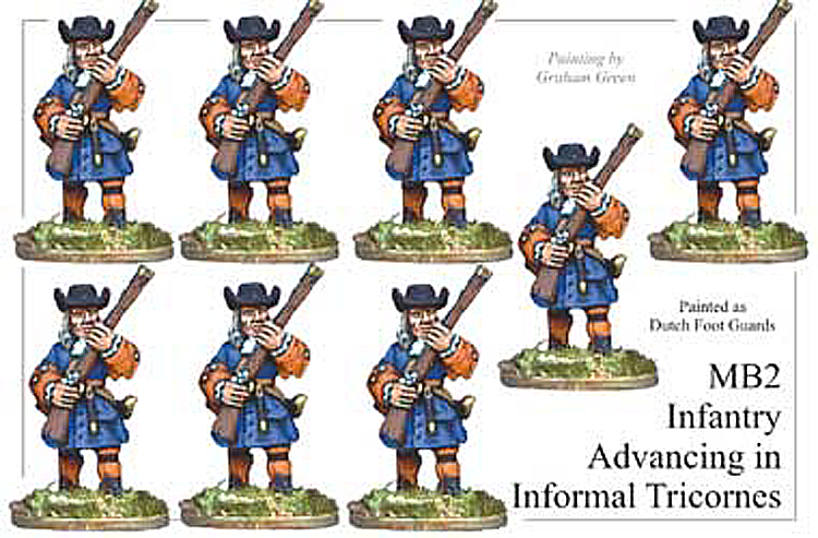 MB002 - Infantry In Informal Tricorns Advancing