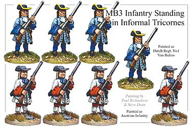 MB003 - Infantry Informal Tricorns Standing
