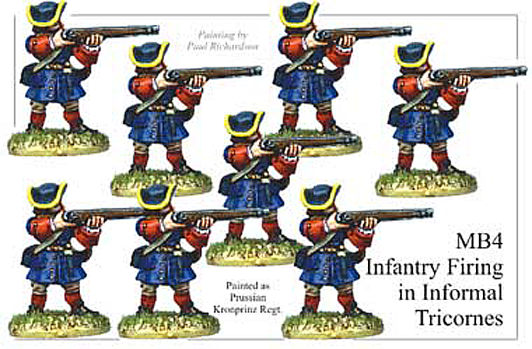 MB004 - Infantry In Informal Tricorns Firing