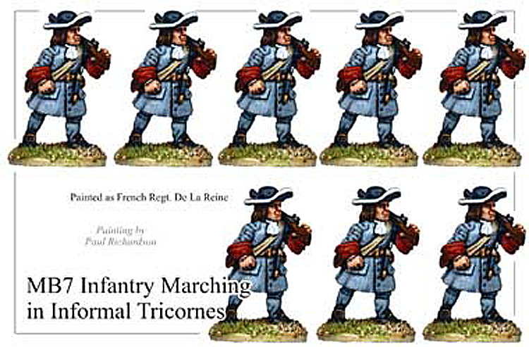 MB007 - Infantry In Informal Tricorns Marching
