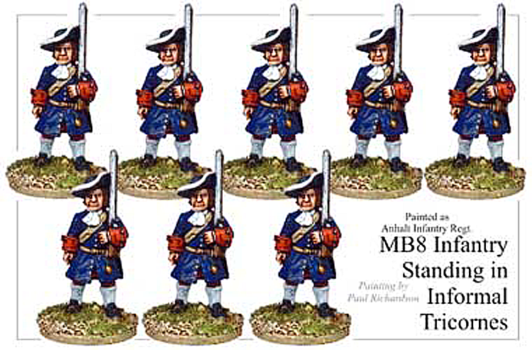 MB008 - Infantry In Informal Tricorns Standing