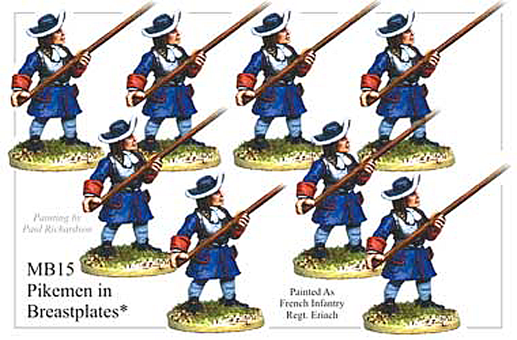 MB015 - Infantry Pikemen In Brestplate