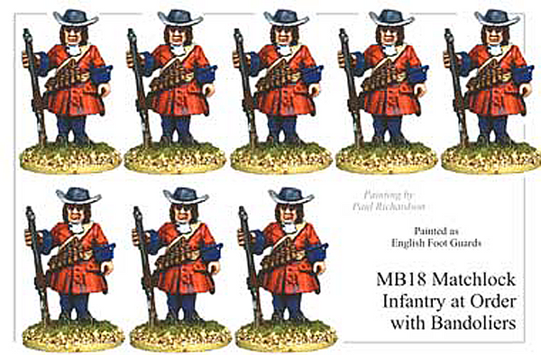 MB018 - Infantry With Matchlock Standing