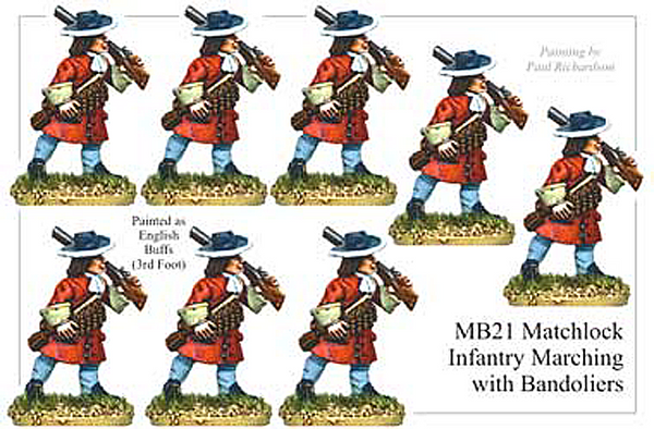 MB021 - Infantry With Matchlock Marching