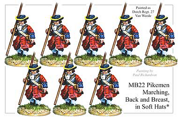 MB022 - Infantry Armoured Pikemen Marching