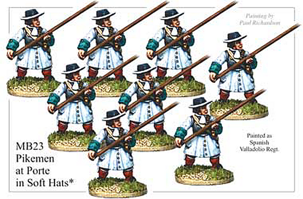 MB023 - Infantry Pikemen Advancing