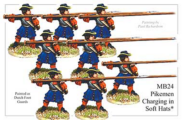 MB024 - Infantry Armoured Pikemen Charging