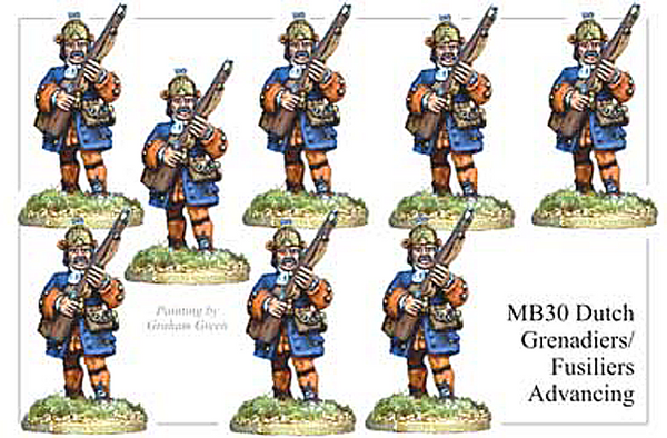 MB030 - Dutch Grenadier Or Fusiliers Advancing