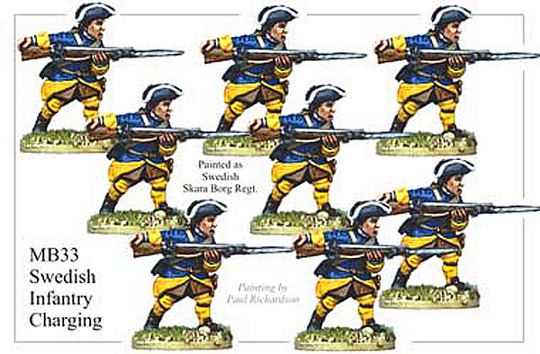 MB033 - Swedish Infantry Charging