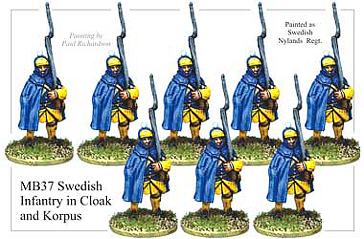 MB037 - Swedish Infantry In Cloak And Korpus Hat