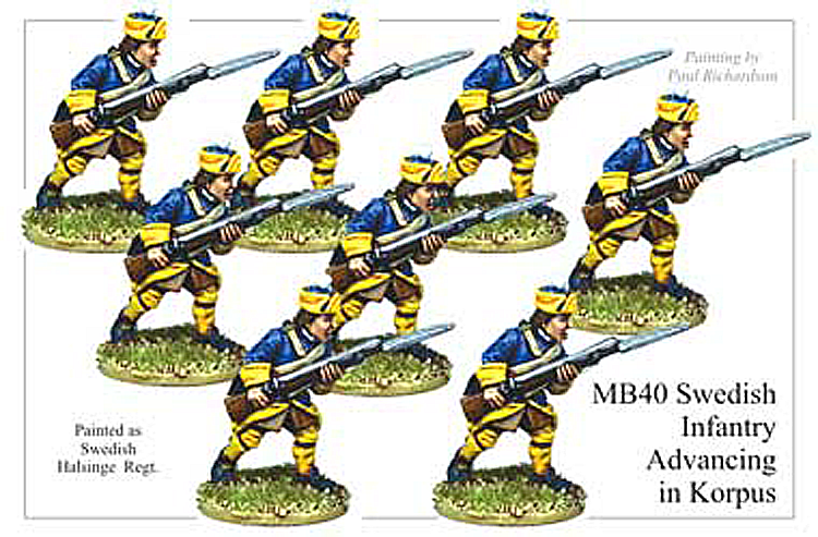 MB040 - Swedish Infantry Advancing In Korpus