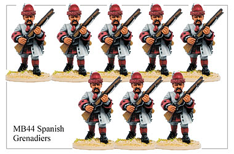 MB044 - Spanish Infantry Grenadier Advancing
