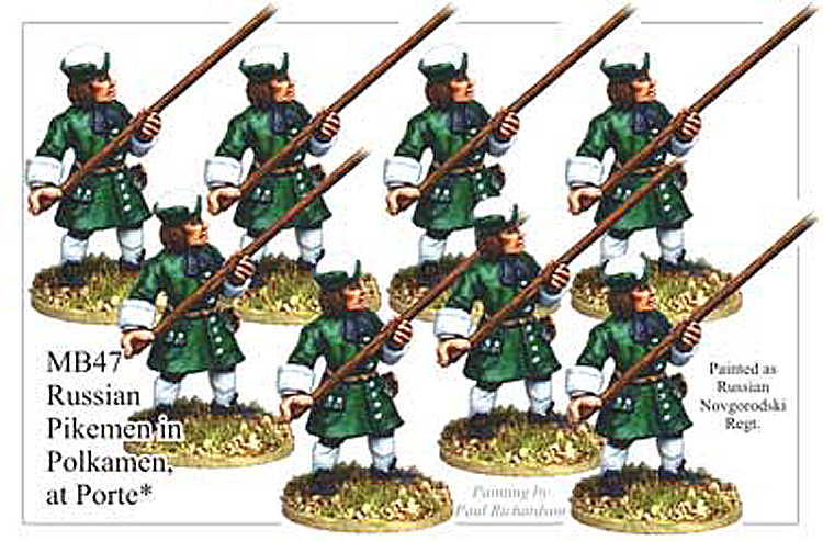 MB047 - Russian Infantry Pikemen