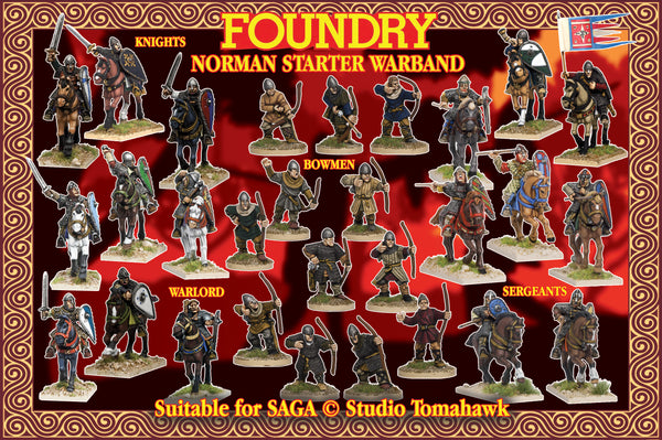 Norman Starter Warband (4 points) Suitable for SAGA