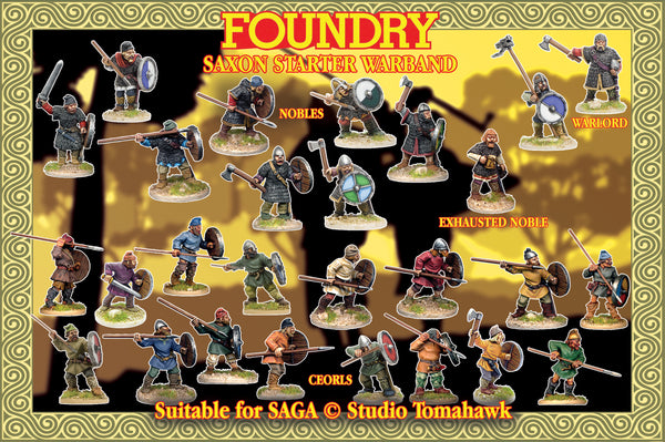 Saxon Starter Warband (4 points) Suitable for SAGA