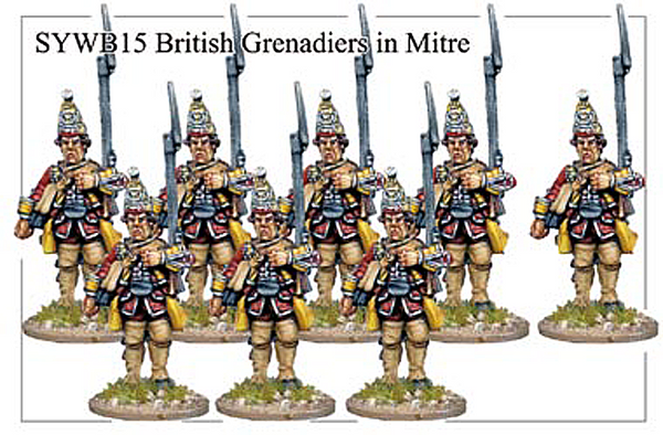 SYWB015 - British Grenadiers In Mitre Caps