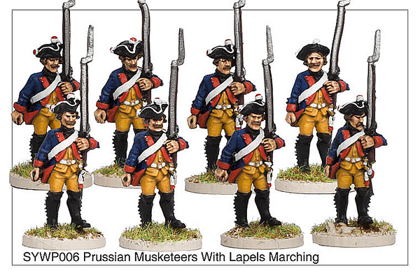 SYWP006 - Prussian Musketeers With Lapels Marching