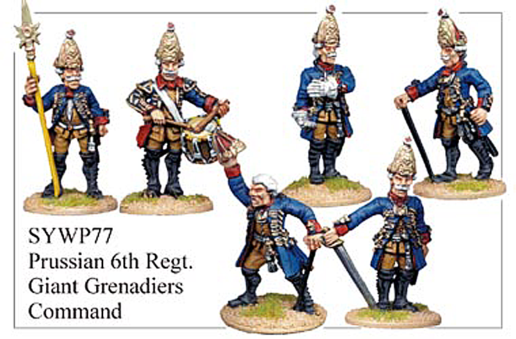 SYWP077 - Prussian Giant Grenadiers Regiment Number Six Command