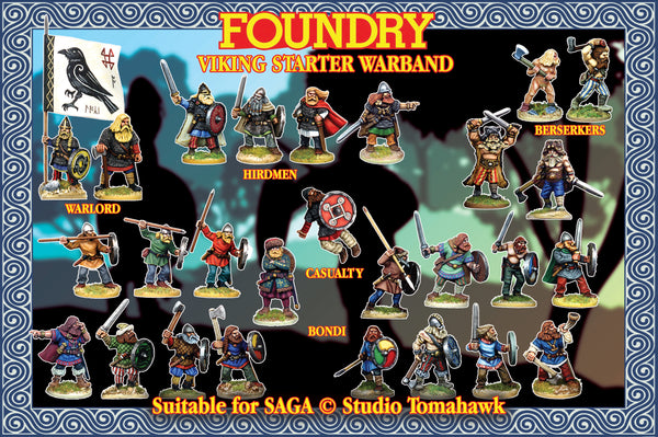 Viking Starter Warband (4 points) Suitable for SAGA