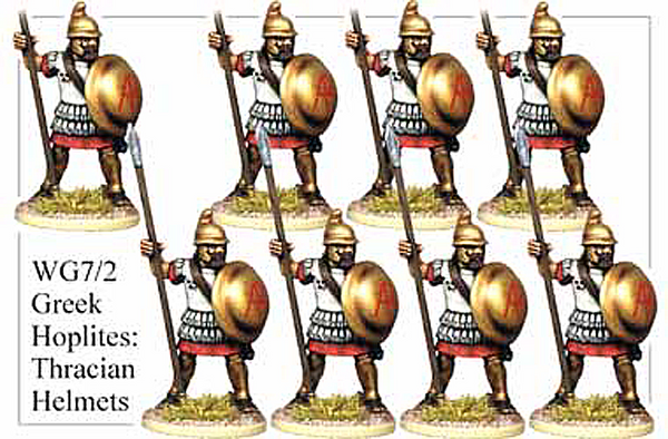 WG072 - Greek Hoplites in Thracian Helmets