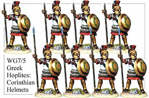WG075 - Greek Hoplites in Corinthian Helmets