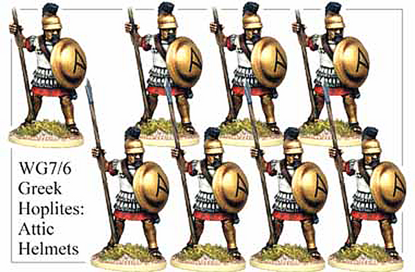 WG076 - Greek Hoplites in Attic Helmets