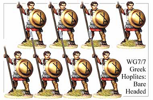 WG077 - Bare Headed Greek Hoplites