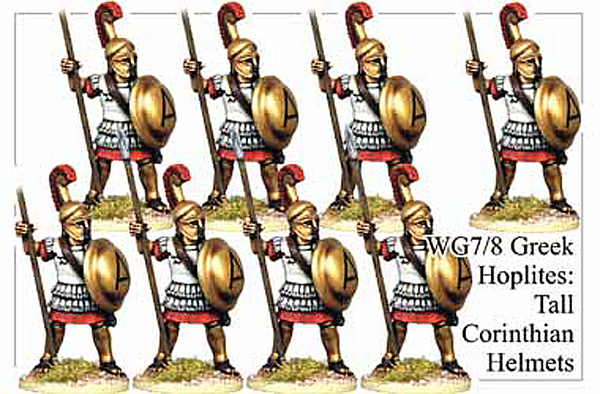 WG078 - Greek Hoplites in Tall Corinthian Helmets
