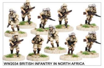 WW220034 - British Infantry in North Africa