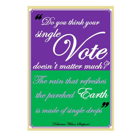 Each vote counts card