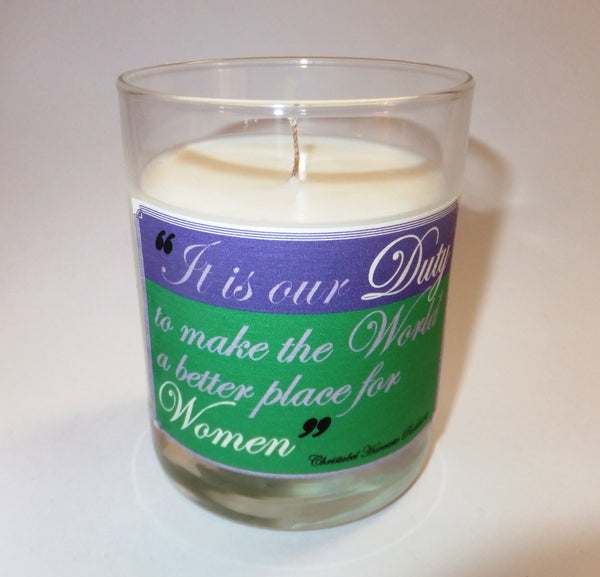 It is our Duty candle
