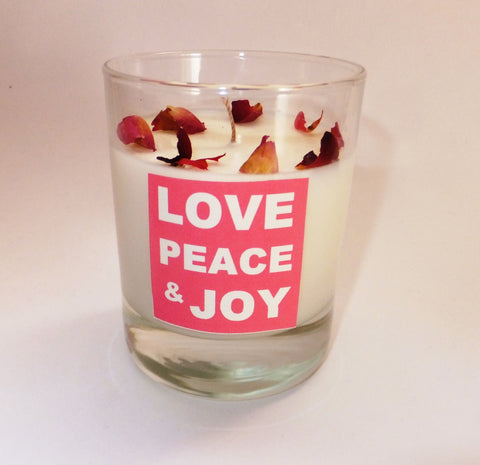 Love Peace Joy candle