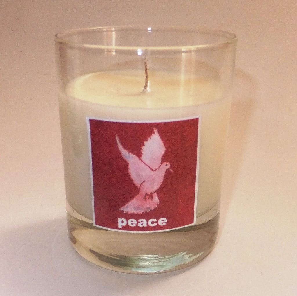 Peace dove candle