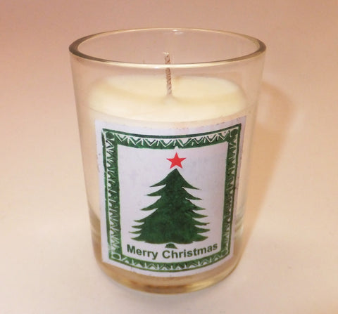 Christmas tree votive candle