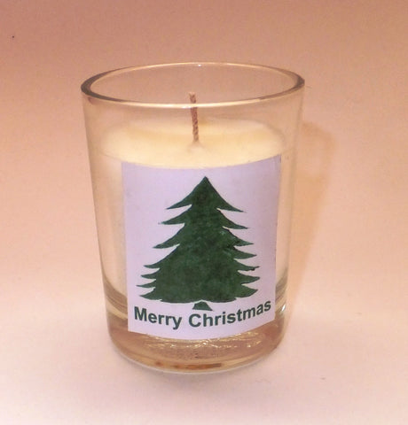 Christmas tree (no border) votive candle