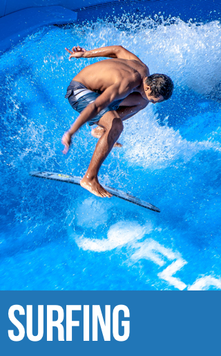 Surfing at Surf House Phuket.