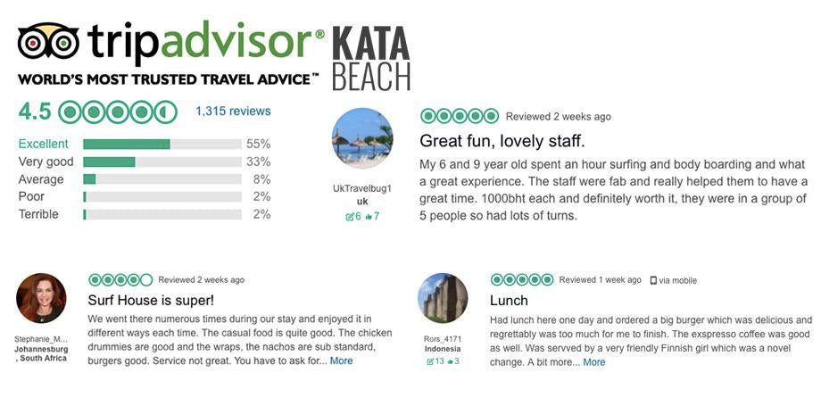 Kata Beach Trip Advisor Reviews