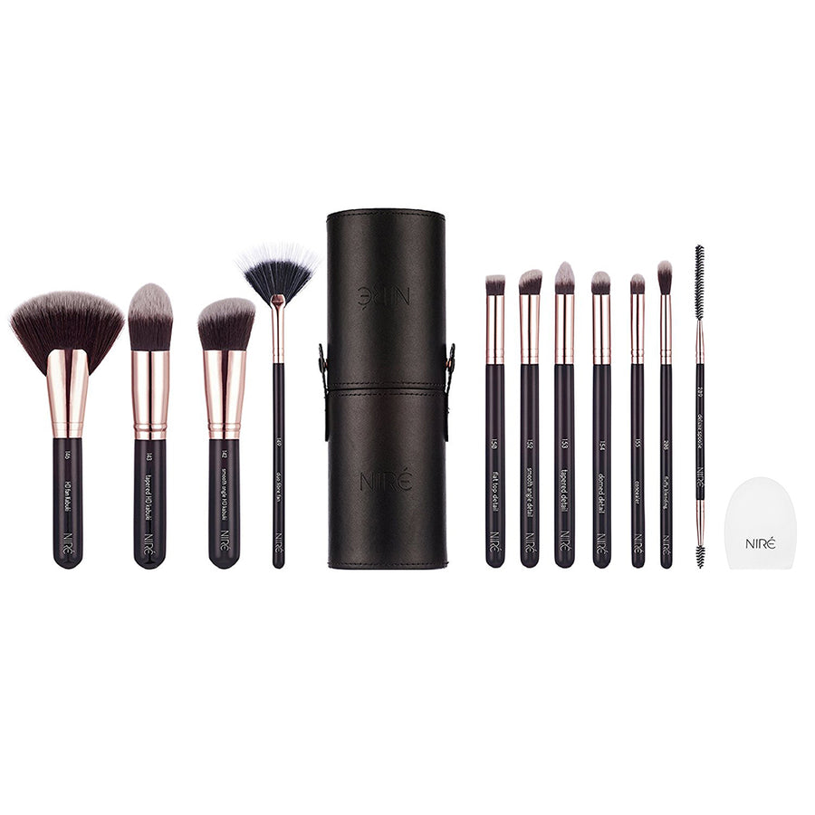 Niré Beauty Next Level Kabuki Brush Set (Rose Gold Edition) - Niré Beauty