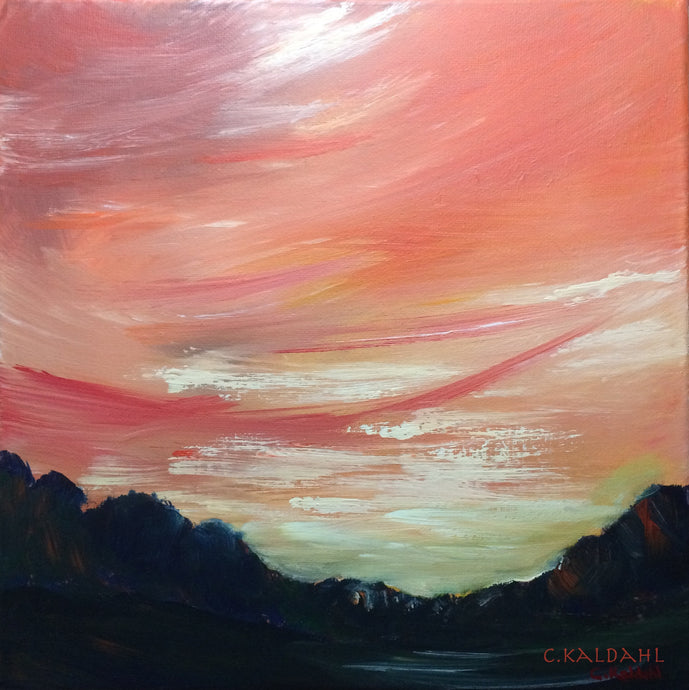 Arid Evening, acrylic painting by Cheryl Kaldahl