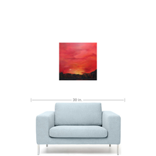 Crimson Sunset, scale view